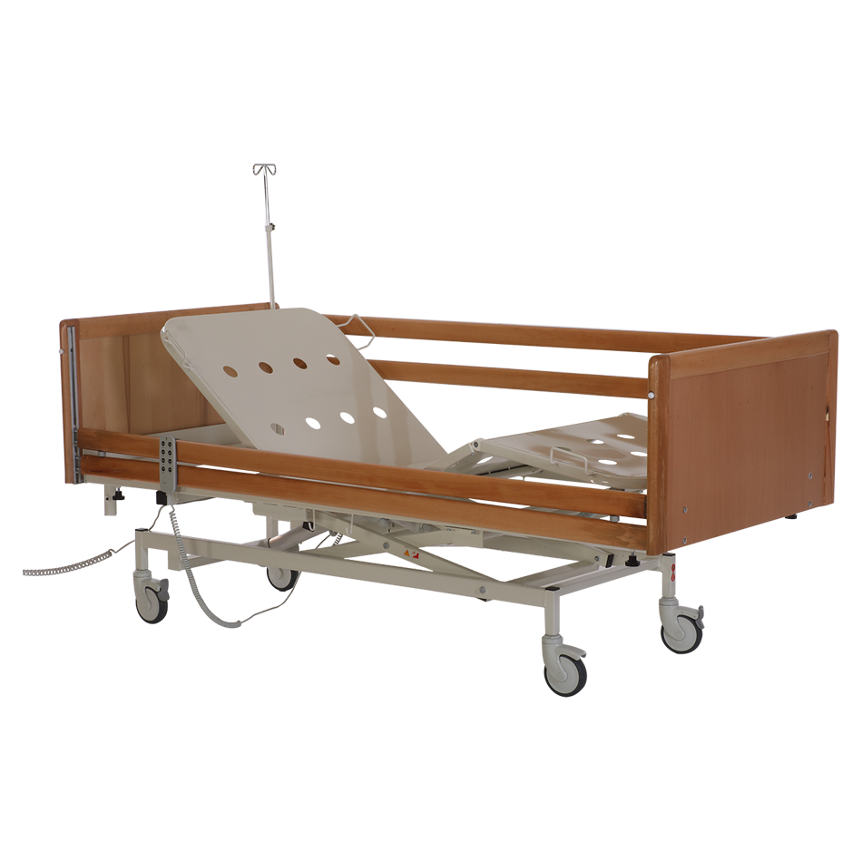 HKA - 3000 WOODEN HOSPITAL BED WITH 3 MOTORS Detail 0