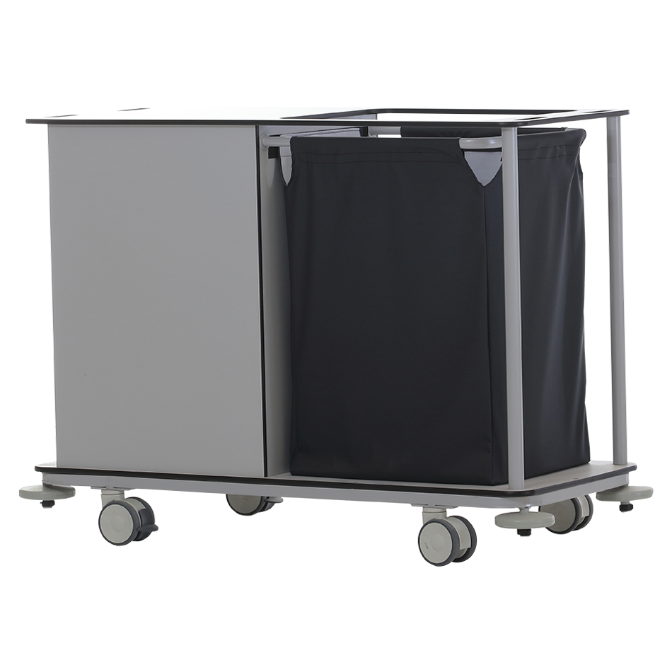 KRL-2300 DIRTY – CLEAN LINEN TROLLEY Detail 1